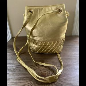 Stuart Weitzman Vintage Gold Bucket Bag